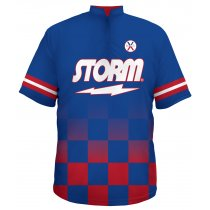 Storm Jersey - Checker Fade Blue and Red - Men's 3XL