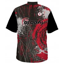 900G - Hurricane Red - Black Back - Men's Medium