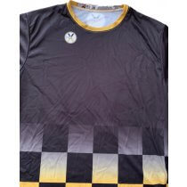 Checker-Fade - Black-Gold - Crew Neck - Men's XL