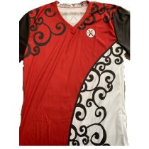 Roman Red V-Neck - Women's Large